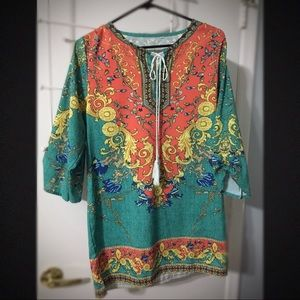 Boho colorful tunic (unbranded)